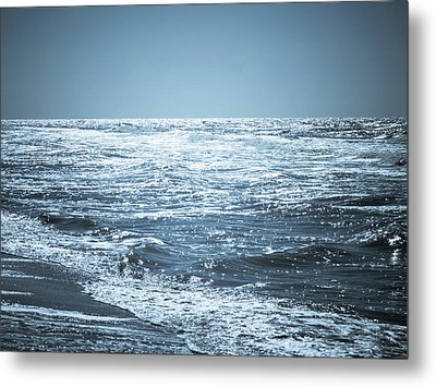 Along The Shore Metal Print by Wim Lanclus