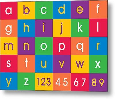 Alphabet Colors Metal Print by Michael Tompsett