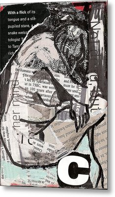 Alphabet Nude C Metal Print by Joanne Claxton