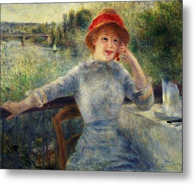 Alphonsine Fournaise Metal Print by Pierre Auguste Renoir