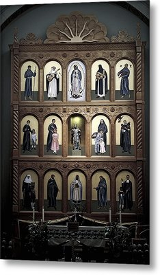 Altar Screen Cathedral Basilica Of St Francis Of Assisi Santa Fe Nm Metal Print by Christine Till