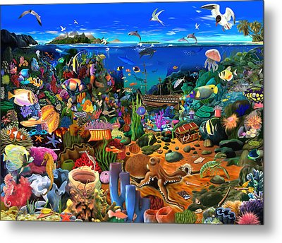 Amazing Coral Reef Metal Print by Gerald Newton