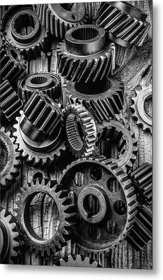 Amazing Gears Metal Print by Garry Gay
