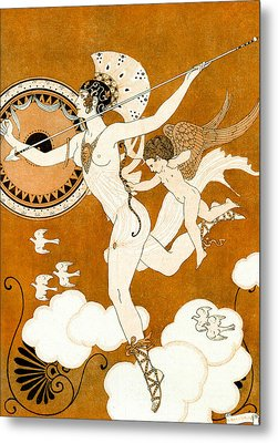 Amazonian Warrior Metal Print by Georges Barbier