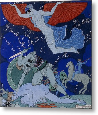Amazons Metal Print by Georges Barbier