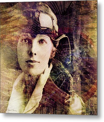 Amelia Metal Print by Barbara Berney