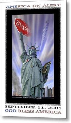 America On Alert II Metal Print by Mike McGlothlen