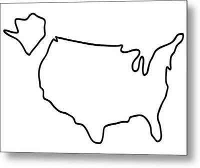 america USA map Metal Print by Lineamentum