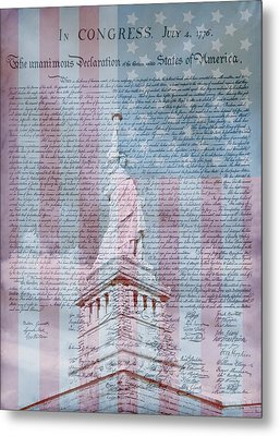 American Declaration Of Independence Metal Print by Dan Sproul