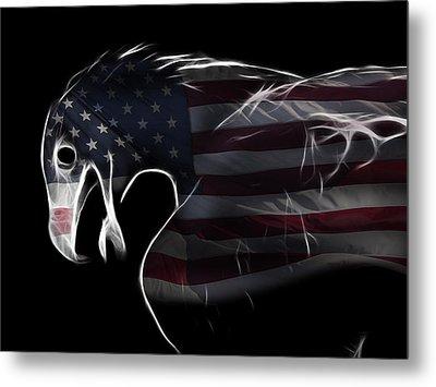 American Eagle Metal Print by Melanie Viola