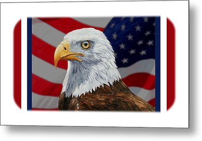 American Eagle Phone Case Metal Print by Crista Forest