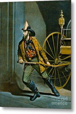 American Fireman 1858 Metal Print by Padre Art