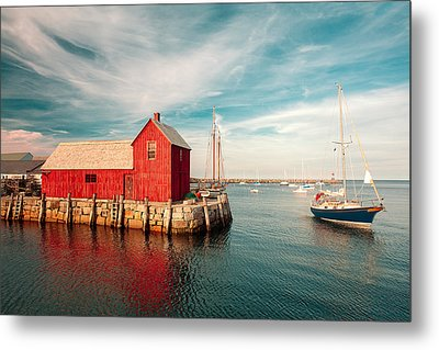 American Fishing Shack Metal Print by Todd Klassy