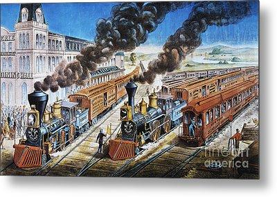 American Railway, 1876 Metal Print by Granger