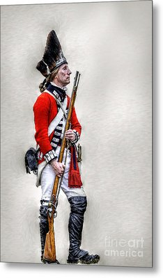 American Revolution British Soldier  Metal Print by Randy Steele