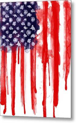 American Spatter Flag Metal Print by Nicklas Gustafsson