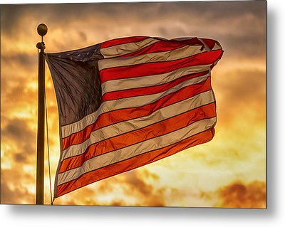 American Sunset On Fire Metal Print by James BO Insogna