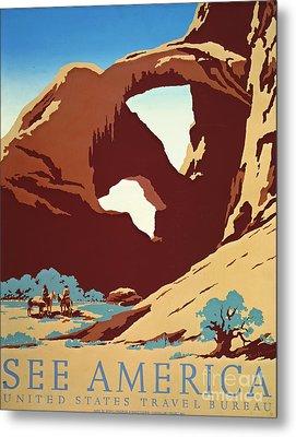 American West Travel 1939 Metal Print by Padre Art