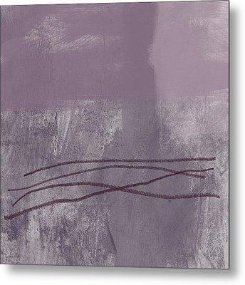 Amethyst 1- Abstract Art By Linda Woods Metal Print by Linda Woods