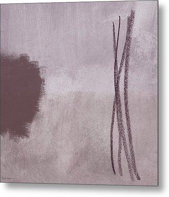 Amethyst 2- Abstract Art By Linda Woods Metal Print by Linda Woods