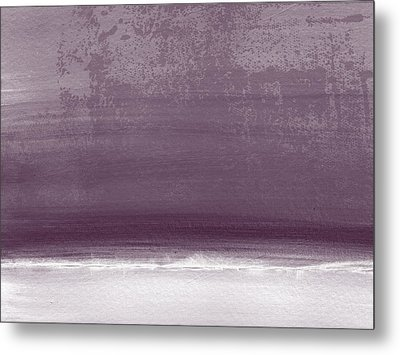 Amethyst Shoreline- Abstract Art By Linda Woods Metal Print by Linda Woods