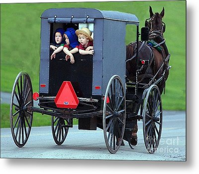 Amish Country Tour Metal Print by Randy Matthews