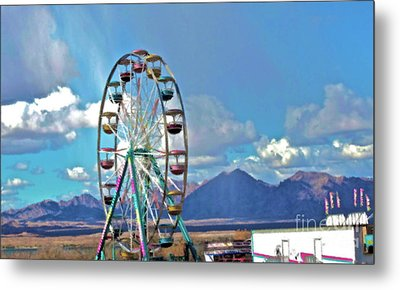 Amusement View Metal Print by Gwyn Newcombe