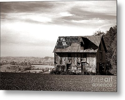 An Abandoned Farmhouse In Normandy Metal Print by Olivier Le Queinec