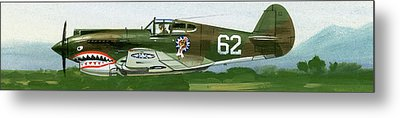 An American Curtiss P40 B Fighter Metal Print by Wilf Hardy