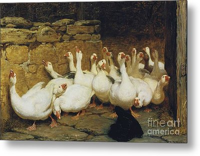 An Anxious Moment Metal Print by Briton Riviere