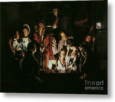 An Experiment On A Bird In The Air Pump Metal Print by Joseph Wright of Derby