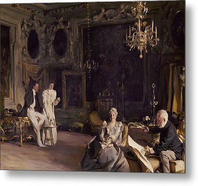 An Interior In Venice Metal Print by John Singer Sargent