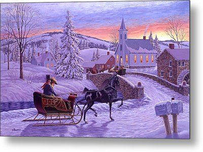 An Old Fashioned Christmas Metal Print by Richard De Wolfe