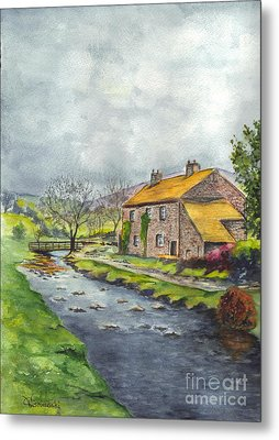 An Old Stone Cottage In Great Britain Metal Print by Carol Wisniewski