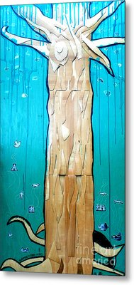 Ancestral Tree Indians To The Sea Metal Print by Genevieve Esson