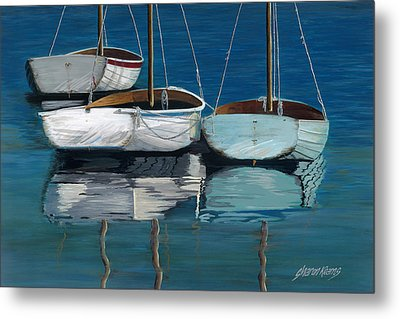 Anchored Reflections I Metal Print by Sharon Kearns