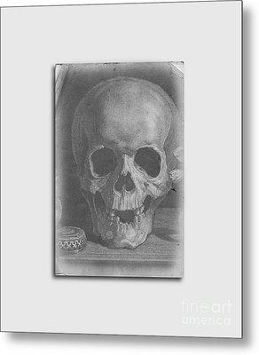 Ancient Skull Tee Metal Print by Edward Fielding