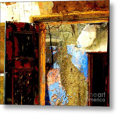 Ancient Wall 3 By Michael Fitzpatrick Metal Print by Mexicolors Art Photography