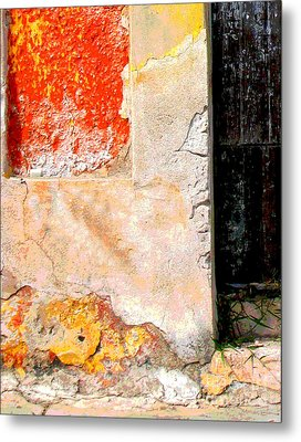 Ancient Wall 4 By Michael Fitzpatrick Metal Print by Mexicolors Art Photography