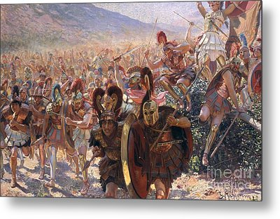 Ancient Warriors Metal Print by Georges Marie Rochegrosse
