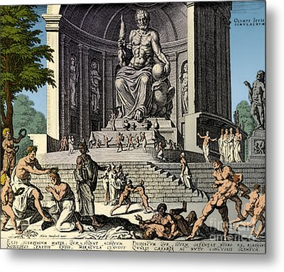 Ancient Wonder Of The World, Zeus Metal Print by Science Source