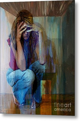 And Alice Wonders How Ever Did She Get Here Metal Print by Tammera Malicki-Wong