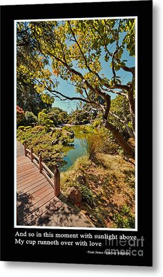 And So In This Moment With Sunlight Above Metal Print by Jim Fitzpatrick