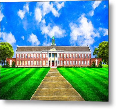 Old Main - Andalusia High School Metal Print by Mark E Tisdale