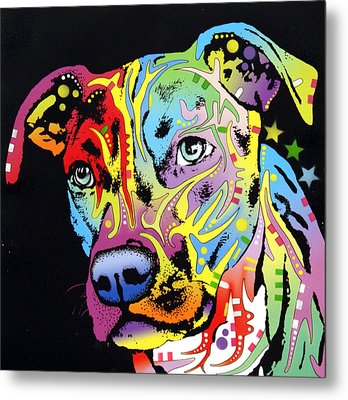 Angel Pit Bull Metal Print by Dean Russo