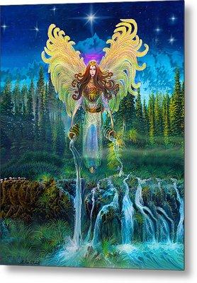 Angel Tarot Card Archangel Jophiel  Metal Print by Steve Roberts