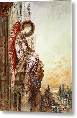 Angel Traveller Metal Print by Gustave Moreau
