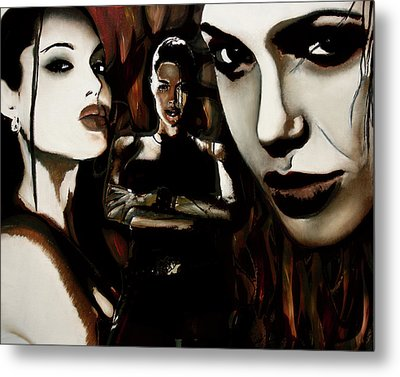 Angelina Jolie Metal Print by Sarah Whitscell