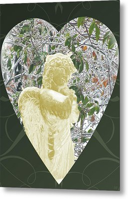 Angels Of The Snow  C Metal Print by Debra     Vatalaro