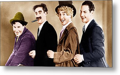 Animal Crackers, From Left Chico Marx Metal Print by Everett